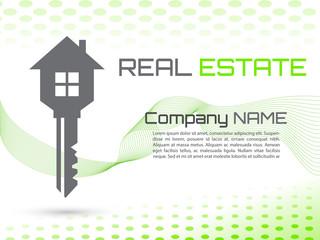 Key House Vector, creative business card green