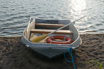 Life boat on shore