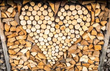 heart - firewood
