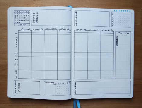 Le Bullet Journal - pages hebdomadaires