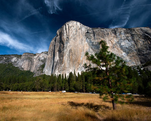 Giant rock in Yosemite Valley, Yosemite National Park, USA