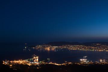 Bay of Novorossiysk just after sunset, Russia