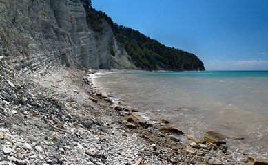 Coastline of the Blacksea near Gilendzhik, Russia