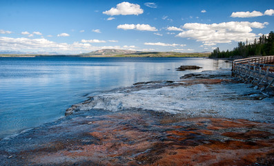 Yellowstone Lake in Yellowstone NP, USA