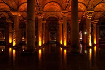 Basilica Cistern - underground water supply - Istanbul, Turkey