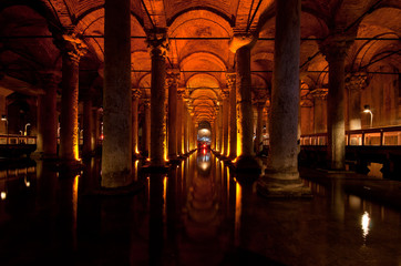 Basilica Cistern - underground water supply - Istanbul, Turkey