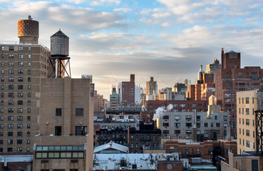 Rooftops of Manhattan, showing the beautiful skyline in nice light