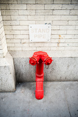 Standpipe conncetion for fire Department, New York, USA