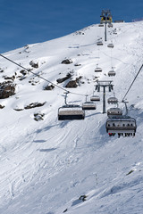 Chairlifts in the Zillertal Arena, Austria
