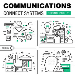 Communication connect social technology pack.