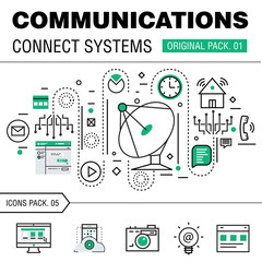 Communication connect social technology pack