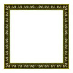 picture frame wooden carved frame pattern isolated on white background