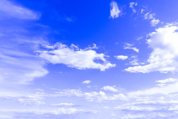 sky Background blue sky with white clouds for design pattern and