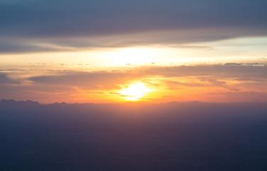 sunset sky and clouds landscape, Beautiful Scenery Sunset Sky Vi