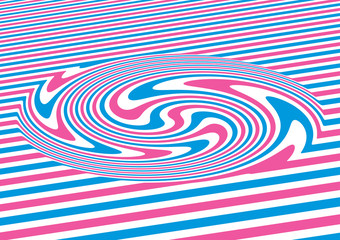 Wall Mural - Op art swirl abstract geometric pattern colorful vector illustration