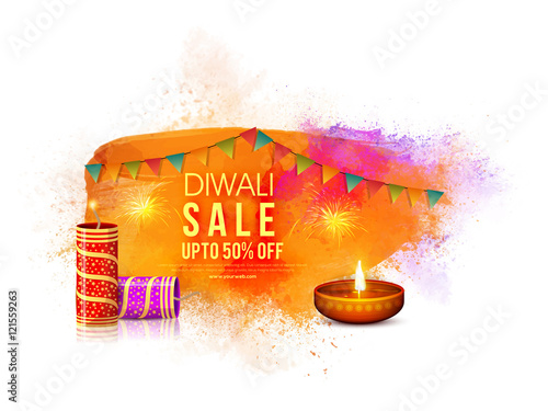 diwali sale poster banner or flyer design stock image and royalty
