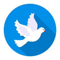 Dove icon of vector illustration for web and mobile