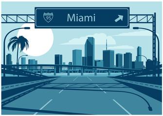 Fototapete - Miami skyline