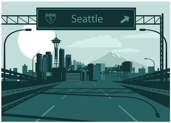 Wall Mural - Seattle skyline