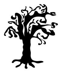 halloween creepy scary bare tree vector symbol icon design.