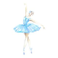watercolor girl ballerina
