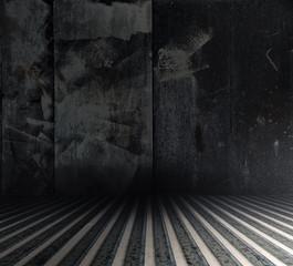 grunge metallic interior