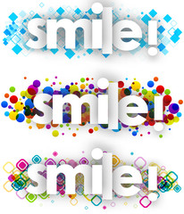 smile color banners