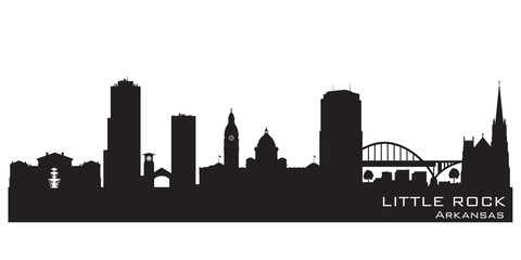 Fototapete - Little Rock Arkansas city skyline vector silhouette