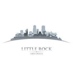 Little Rock Arkansas city silhouette white background