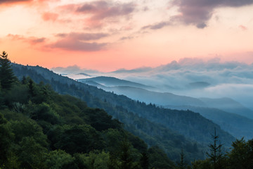 Wall Murals Mountains Morning at Great Smoky Mountains