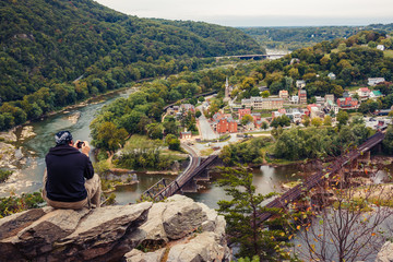 View on Harpers Ferry from Maryland Heights