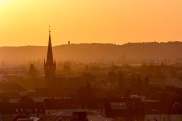 Dresden zum Sonnenuntergang
