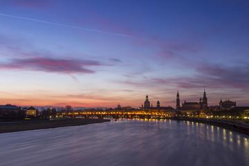 Dresden vor Sonnenaufgang