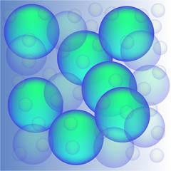 Blue bubbles background.Design element for brochure, advertisements, web and other graphic designer works.