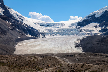 Columbia Icefield and Glacier, Icefields Parkway- Jasper National Park- Alberta- Canada  A hike to this spectacular glacier is a long and windy process.