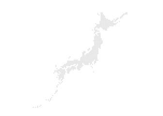 日本地図のエリアマップ (ドット)