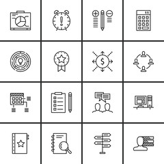 Set Of Project Management Icons On Quality Management, Planning, Cash Flow And More. Premium Quality EPS10 Vector Illustration For Mobile, App, UI Design.