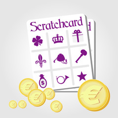 Scratchcard addict