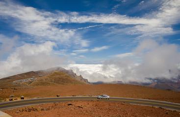 road to the summit of haleakala