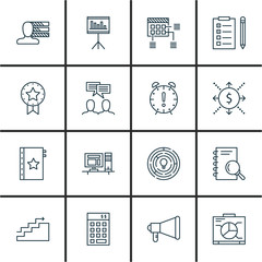 Set Of Project Management Icons On Promotion, Award, Creativity And More. Premium Quality EPS10 Vector Illustration For Mobile, App, UI Design.