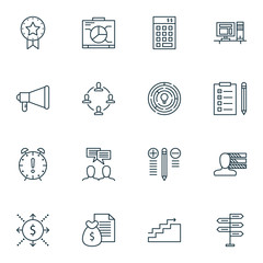 Set Of Project Management Icons On Creativity, Money Revenue, Deadline And More. Premium Quality EPS10 Vector Illustration For Mobile, App, UI Design.