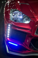 front right head light and LED decoration lights