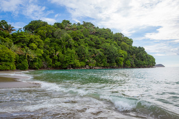 Beach and forest Manuel Antonio Costa Rica