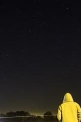 Man looking at beautiful stars