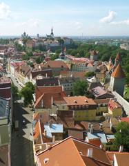 Breathtaking Cityscape of Tallinn in a Sunny Day, Estonia