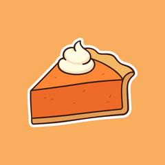 Pumpkin pie drawing