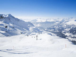 View to skiing resort in Lenzerheide, Grisons, Switzerland