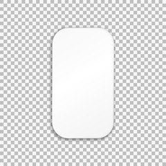 Empty white paper plate. Vector Illustration on transparent background.
