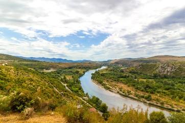 Valley of the river Neretva, Bosnia and Herzegovina
