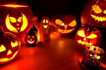 Pumpkin lanters - symbols of Halloween